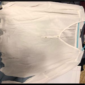 abercrombie and fitch button blouse